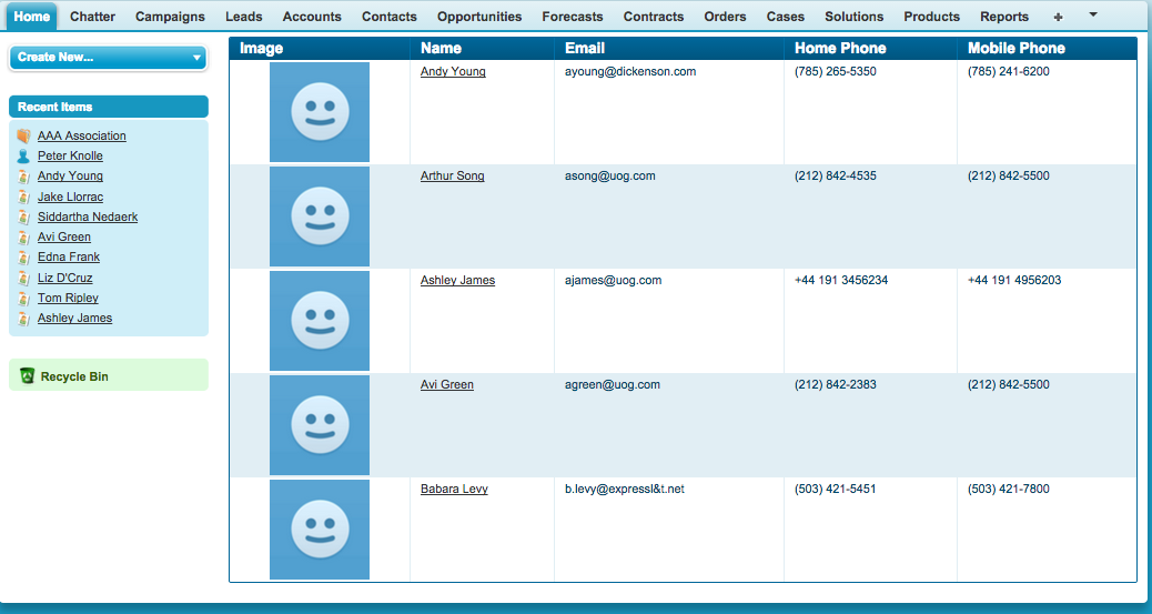 Contacts table with infinite scroll in Visualforce