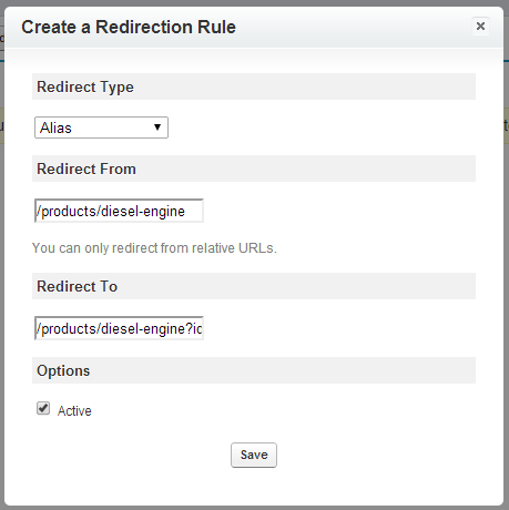 Alias Redirect Rule